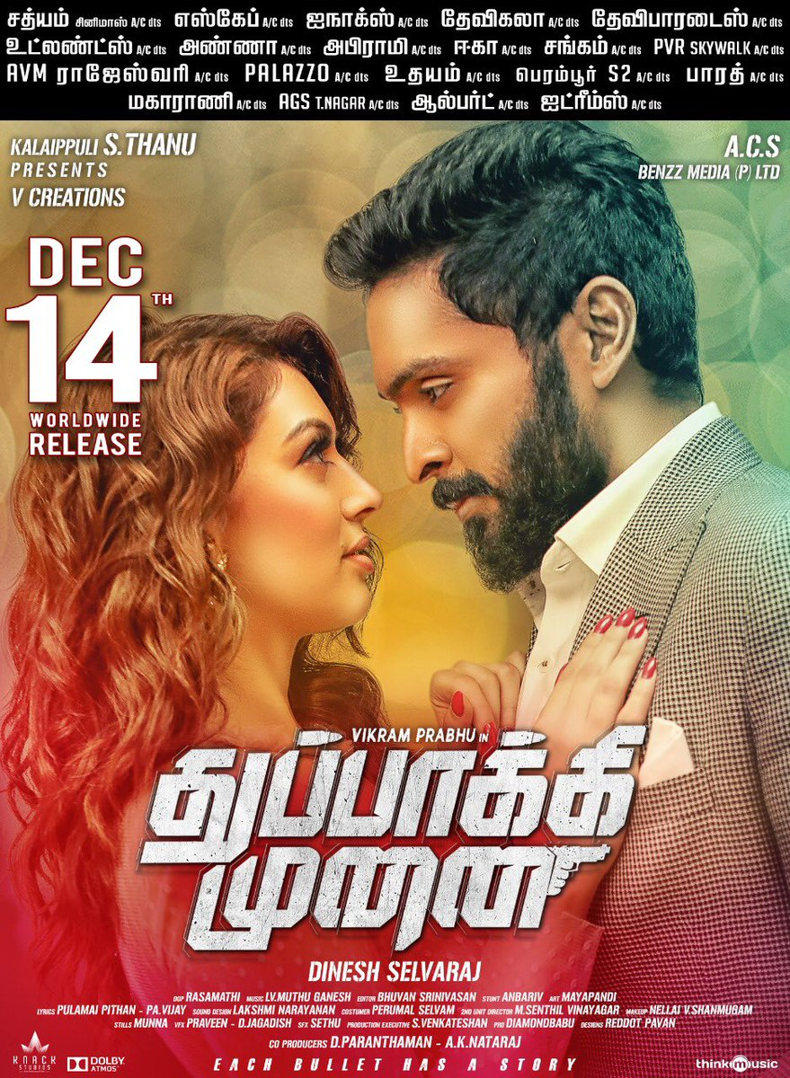 Vikram Prabhu and Hansika in Thuppakki Munai