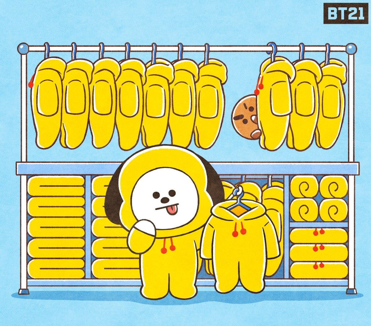 Bt21 On Twitter Hmmm What To Wear Today Chimmy Deep In Thought Ootd Shooky Bt21 So here we go watching baby chimmy and jimin baby in one frame. thought ootd shooky bt21
