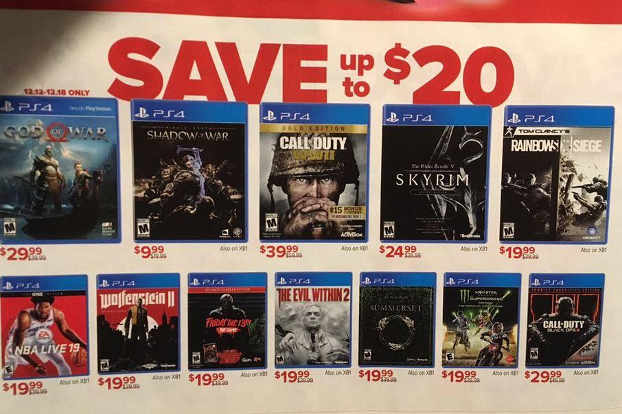 Cheap Ass Gamer On Twitter News Gamestop Game Day Sale Starts Dec 12th Borderlands 2 Vr Beat Saber Ps Vr Bundle 249 99 More