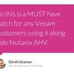 Image for the Tweet beginning: [Blogged] Veeam Update for AHV