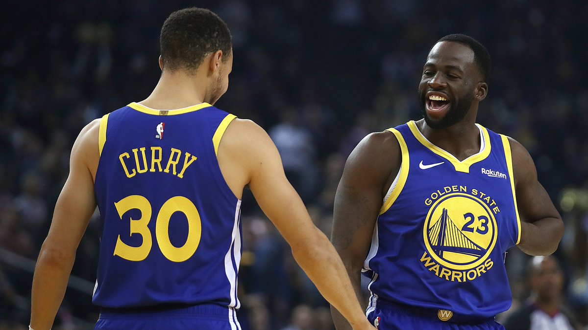 Draymond & Steph, doing what they do best. @MontePooleNBCS has the takeaways from the Warriors win over the Timberwolves bit.ly/2zUnvTZ