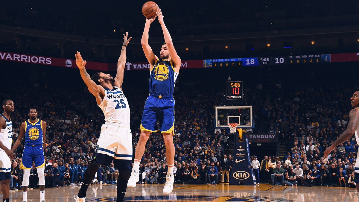 Felt good being back on #WarriorsGround 👌 #JBLxGSW brings you the top moments ⤵️