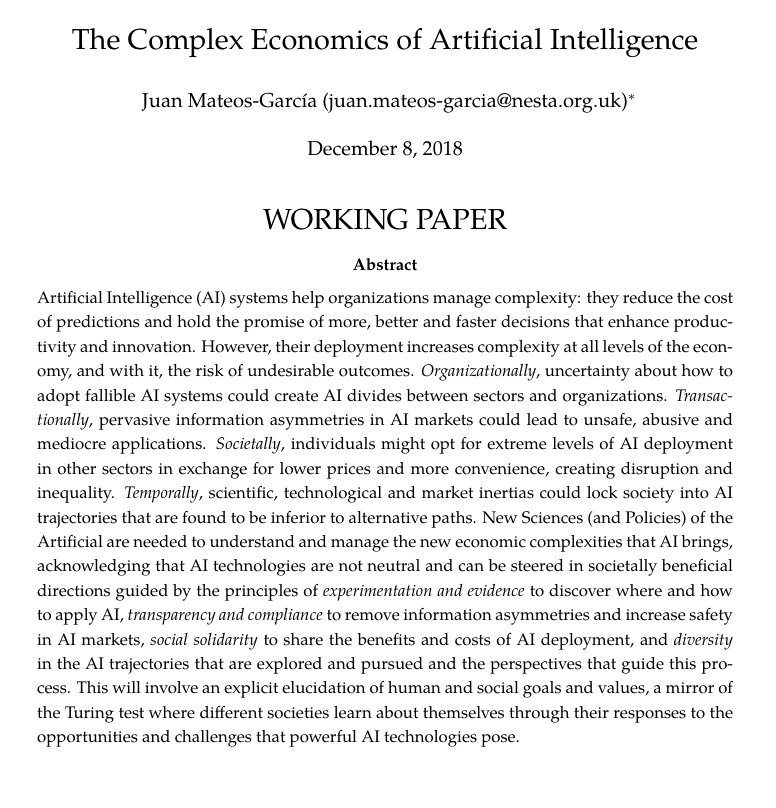 Essay Style Paper Blog Httpswwwnestaorgukblogcomplexeconomicsartificial Intelligence  Essay  Httpspapersssrncomsolpaperscfmabstractid   Learn English Essay Writing also Essay On Library In English Juan Mateos Garcia On Twitter The Complex Economics Of Ai  New  Abraham Lincoln Essay Paper
