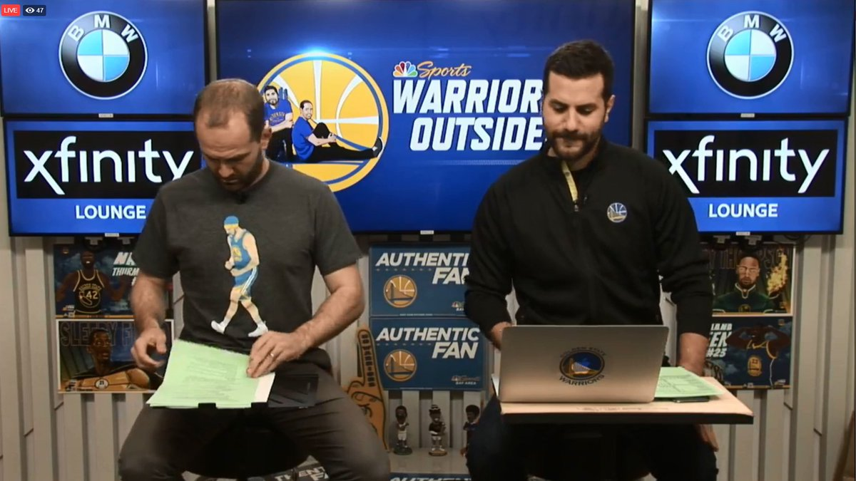 STREAMING LIVE: @Warriors Outsiders with @DrewShiller and @GrantLiffmann starts NOW on Facebook Live bit.ly/2QsHaVh