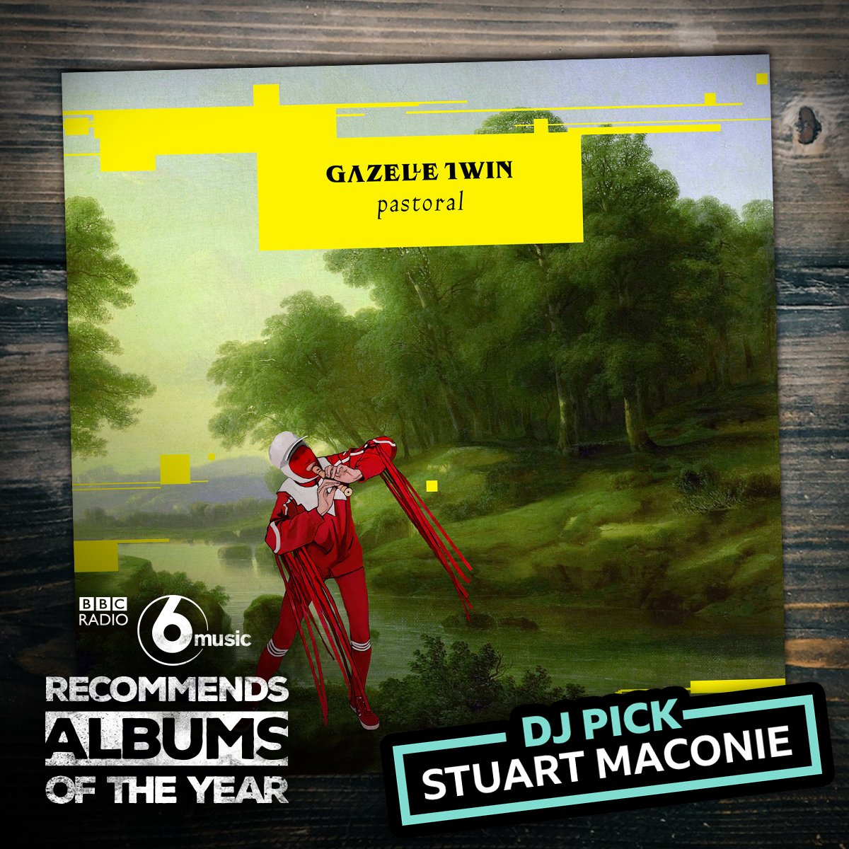 Our Album Of The Day is Pastoral by @gazelletwin, @StuartMaconie's LP of the year. 'This is a dark, weird record about England today,' he says. 'It's edgy, twisted, nervous, frantic and it reflects a kind of discomfort that I think we all feel at the moment.'