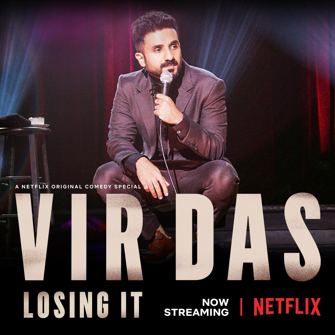 My new comedy special: Vir Das #LosingIT is now streaming on #Netflix @NetflixIsAJoke @NetflixIndia Worldwide! It would be an honour for me if you watched it. If you've ever felt like you're losing your mind, I hope you find this show...here: http://netflix.com/title/80995991