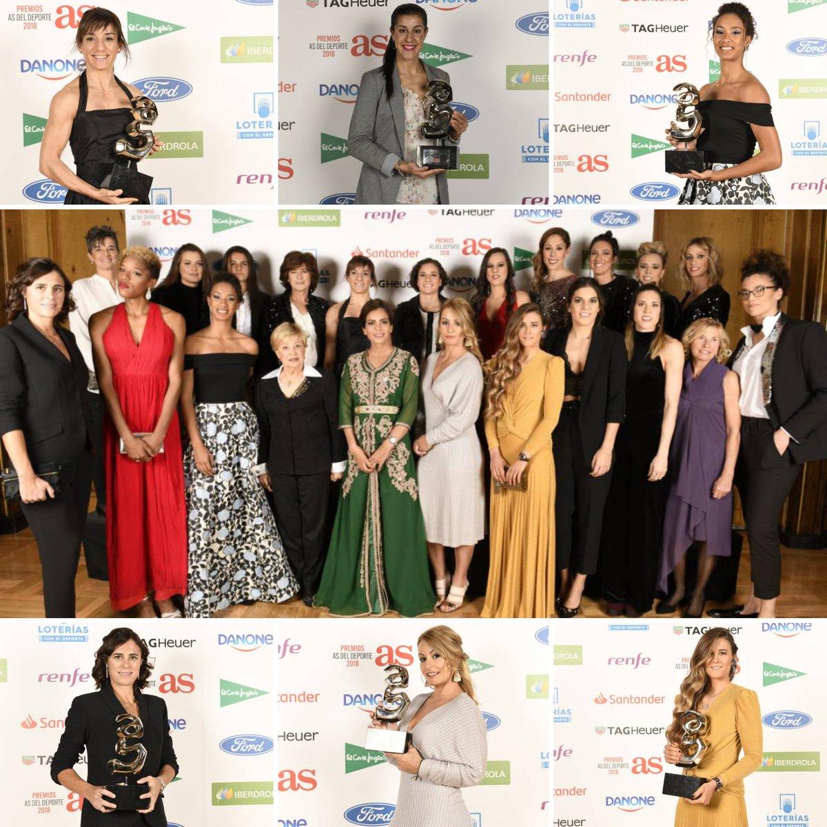 De @CarolinaMarin  a @lydikit  pasando por @sandrasankarate,  @mariiaviicentee,  @Edurne_Pasaban o  @giselapulido... lo mejor del deporte español es reconocido en los #PremiosAS2018 👏👏👏👏 @diarioas  http://ow.ly/lxcL30mWhAL