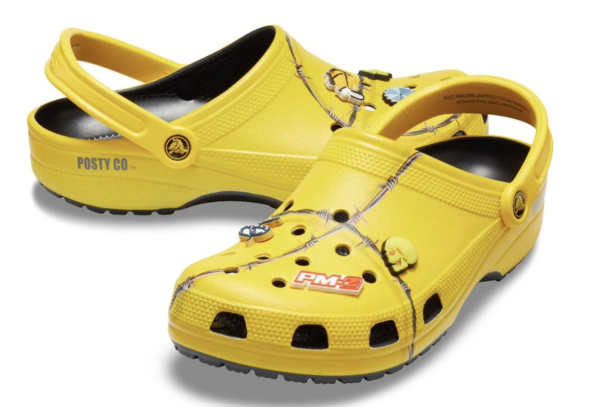 If you&#39;re stressing about Christmas presents, DON&#39;T WORRY! @PostMalone&#39;s just dropped some new Crocs! And they only cost £60... bargain  @jezwelham<br>http://pic.twitter.com/BcZWS75TES