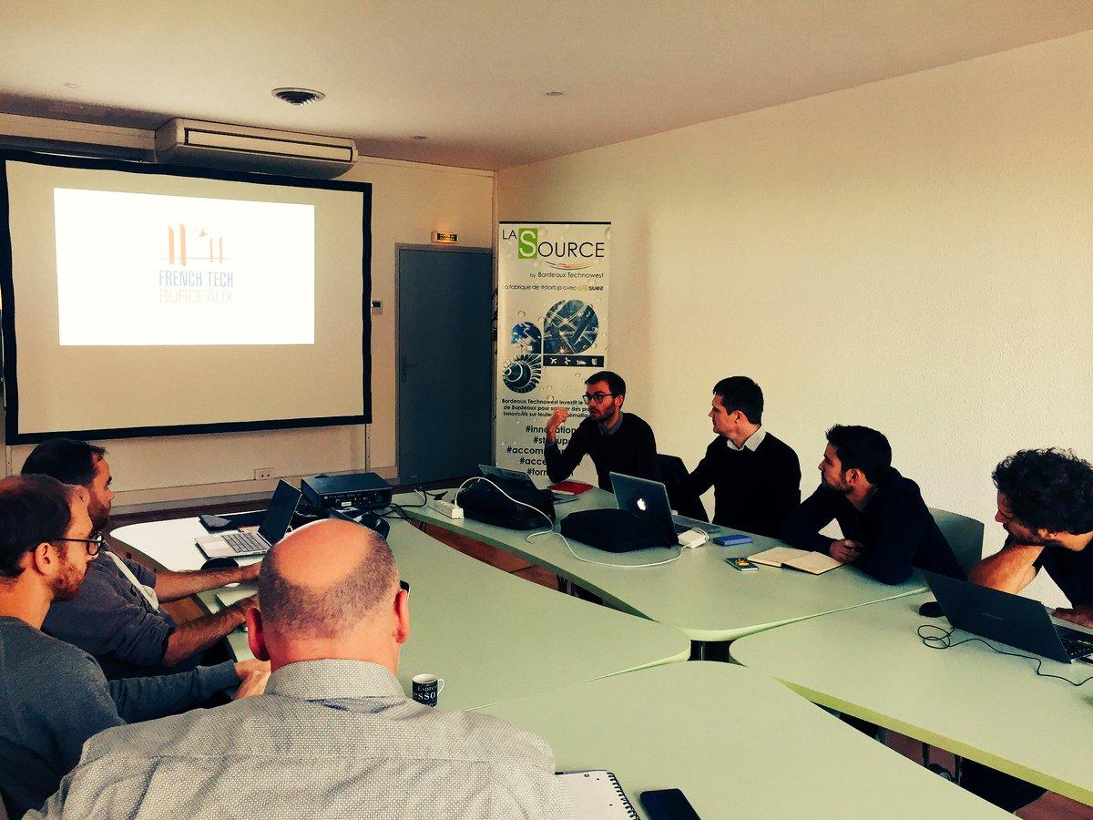 Big 🆙 à @PiDejean qui vient exposer les missions de @FrenchTechBx aux #startup de #LaSource dans le cadre de notre partenariat  ☄️