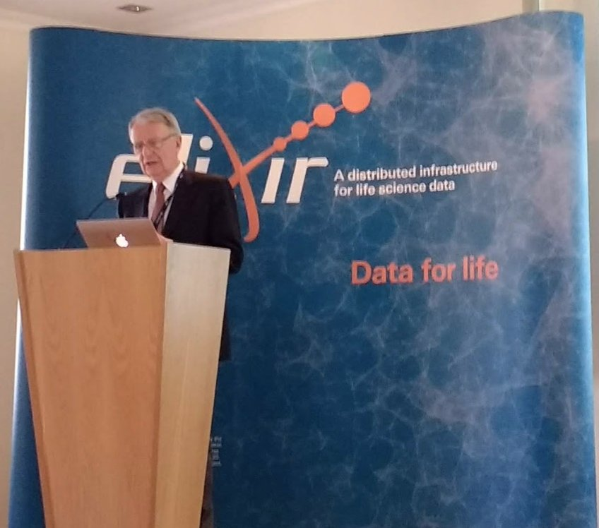 We need a global biodata coordinating system to make life science data sustainable - Our goal is to establish Global Biodata Coalition by 2020 with up to 100 resources. Warwick Anderson secretary general of @HFSP at #ELIXIR5 conference #CoreDataResources https://t.co/r2St57pa7p