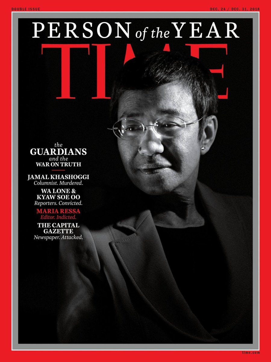 Rappler's @mariaressa is one of TIME's Person of the Year 2018. | via @TIME