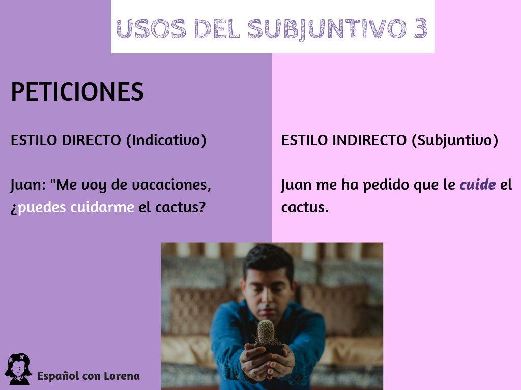 Español Con Lorena على تويتر Subjuntivo Capítulo 3