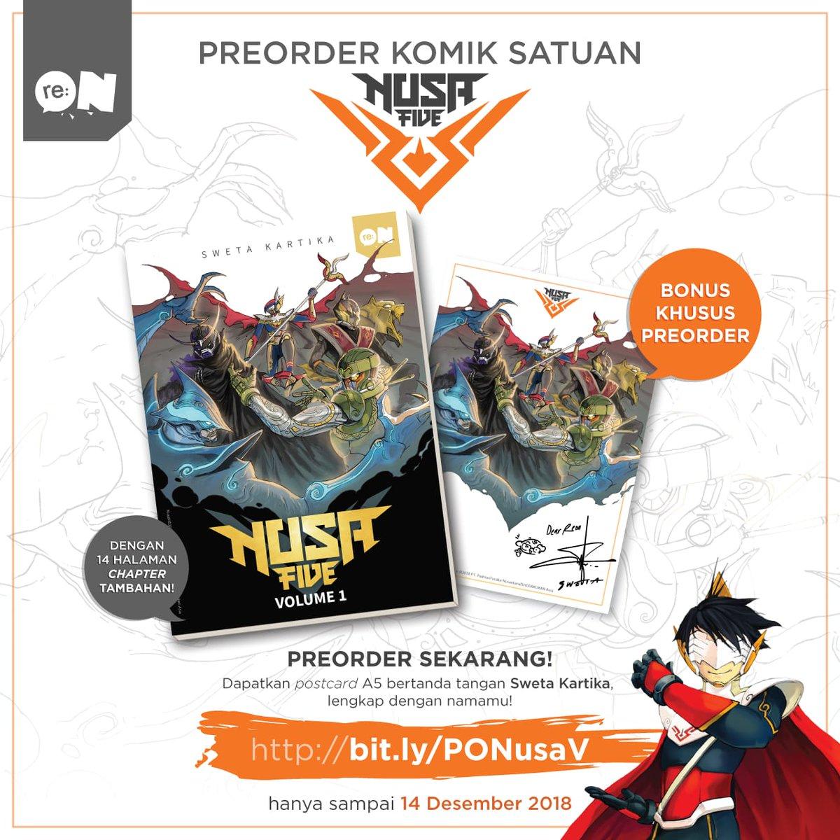 Buat yang berminat PO buku satuan komik #NusaFive masih ditunggu sampai tanggal 14 Desember 2018 ya.