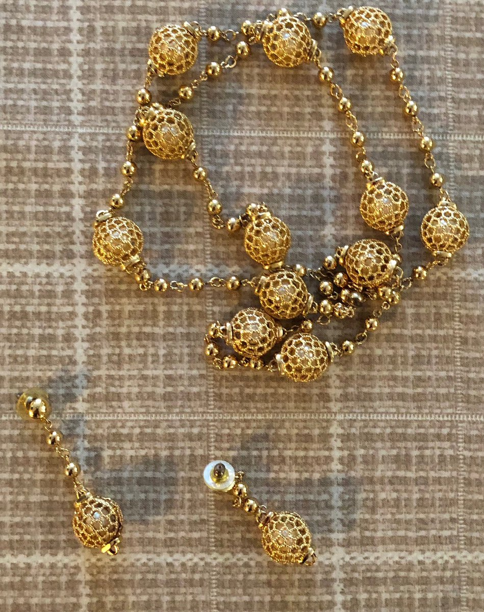 Excited to share this item from my #etsy shop: Earring and Necklace Set , Vintage Faux Pearl &amp; Gold Tone Jewelry Set , Beautiful 2 Piece Jewelry Set  https:// etsy.me/2SDiLZR  &nbsp;   #jewerlyset #vintagejewelry #etsyjewelry <br>http://pic.twitter.com/JXLaTvew8F
