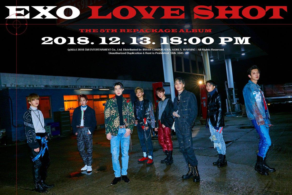 EXO 엑소 The 5th Full Album Repakage Love Shot 🎧 2018.12.13. 6PM (KST) 👉 exo.smtown.com #어디에도_없을_완벽한_EXO #EXO #weareoneEXO #엑소 #LoveShot #러브샷 #엑소_러브샷_내일_오후6시