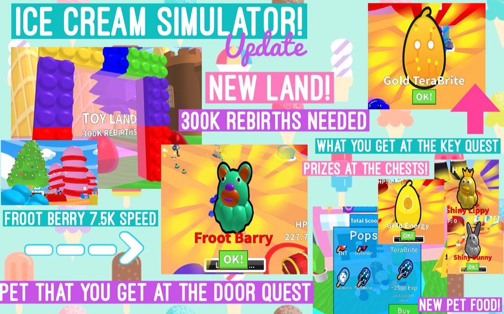 Roblox Twitter Codes For Ice Cream Simulator | Roblox Hack