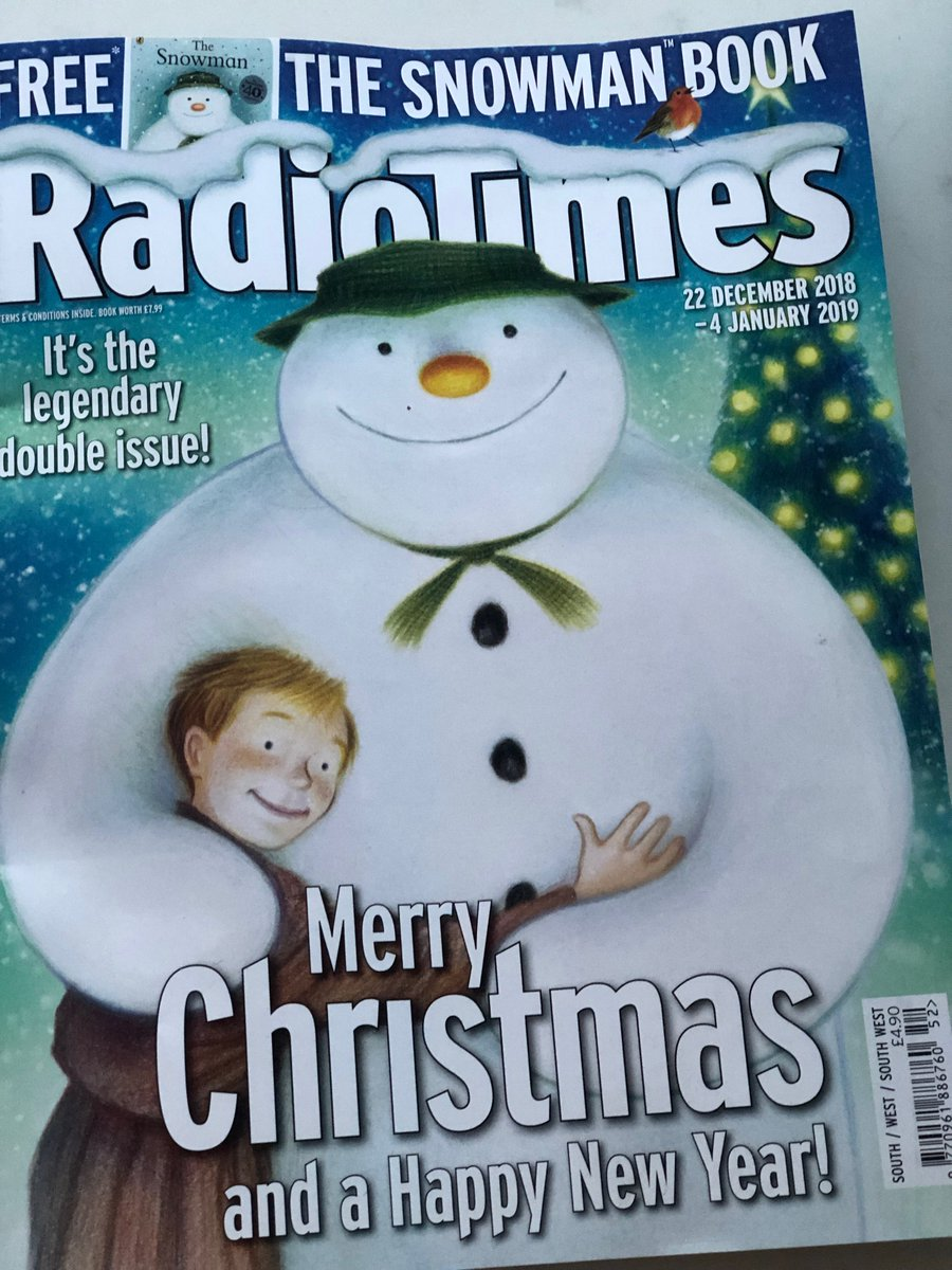 Morecombe & Wise, Torvill & Dean, Watership Down, Doctor Who, The Archers, The Snowman and Elton John all on the contents page of 2018's Christmas Radio Times double issue! #timewarp #radiotimes #christmastv #christmasradiotimes #telly #tv #christmastelly
