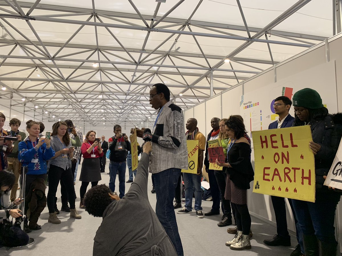 Communities impacted by Shell's fossil fuel extraction gathering before the Shell event to say: Kick the polluters out of COP!