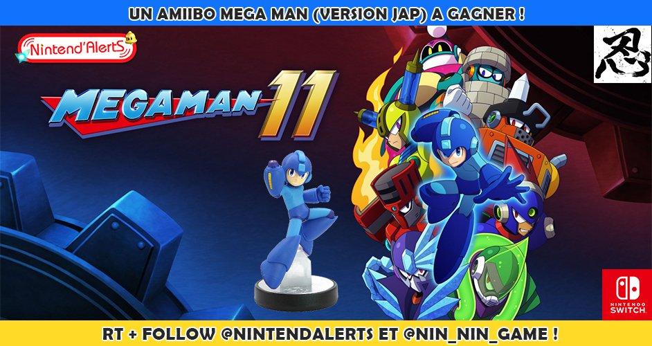 Calendrier de lavent 2018 : Un amiibo Mega Man 11 version Jap à gagner ! Fin le 18/12/2018 ! Follow @nintendalerts et @Nin_Nin_Game + RT ce Tweet !