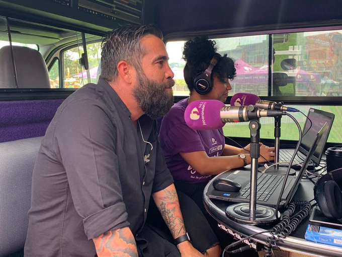 An awesome chat with @JoBlack_BTG on the #Workzone with @AlexJayZA while preparing for the SPAR Carols by Candlelight with Jacaranda FM. #JacaCarols Photo