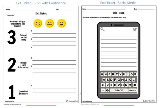 This is an image of Exit Tickets Printable for first day school
