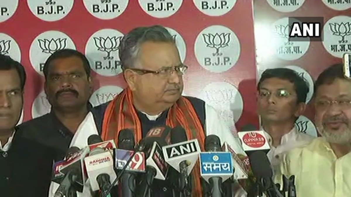 Outgoing Chhattisgarh CM Raman Singh: I have tendered my resignation to the Governor. #AssemblyElectionResults2018