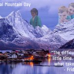 Image for the Tweet beginning: Happy #InternationalMountainDay! Our school is