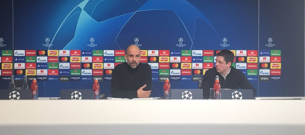 """Just asked Pep Guardiola if he agrees with Raheem Sterling that the media is partly to blame for racist abuse at matches: """"(Racism) is everywhere. The problem is everywhere. People focus on football. It's not just football, unfortunately...That's why you have to fight every day"""""""