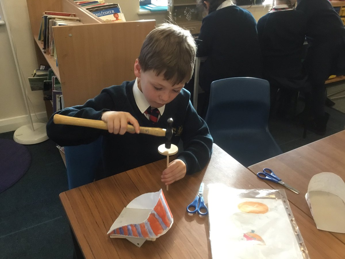 test Twitter Media - Carefully hammering the wheel to the axle to make it secure. #gorseystem #gorseydt https://t.co/gwEvq0QNgV