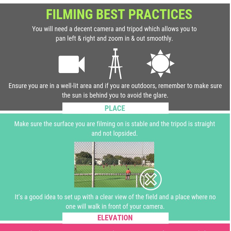 """When filming your teams, the quality of the video is critical. Click to download your """"Best Practices"""" guide. Film matches your analysts & fans will love http://bit.ly/2JXQuu1 #sportperformance #sporttraining #sportscoaching #sportsnews #rugby #football #hockey #netball #soccer"""