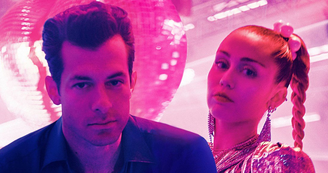 Official Chart Update: @MarkRonson & @MileyCyrus could both claim their fourth UK Top 5 single with #NothingBreaksLikeAHeart this week bit.ly/2zOaxa7