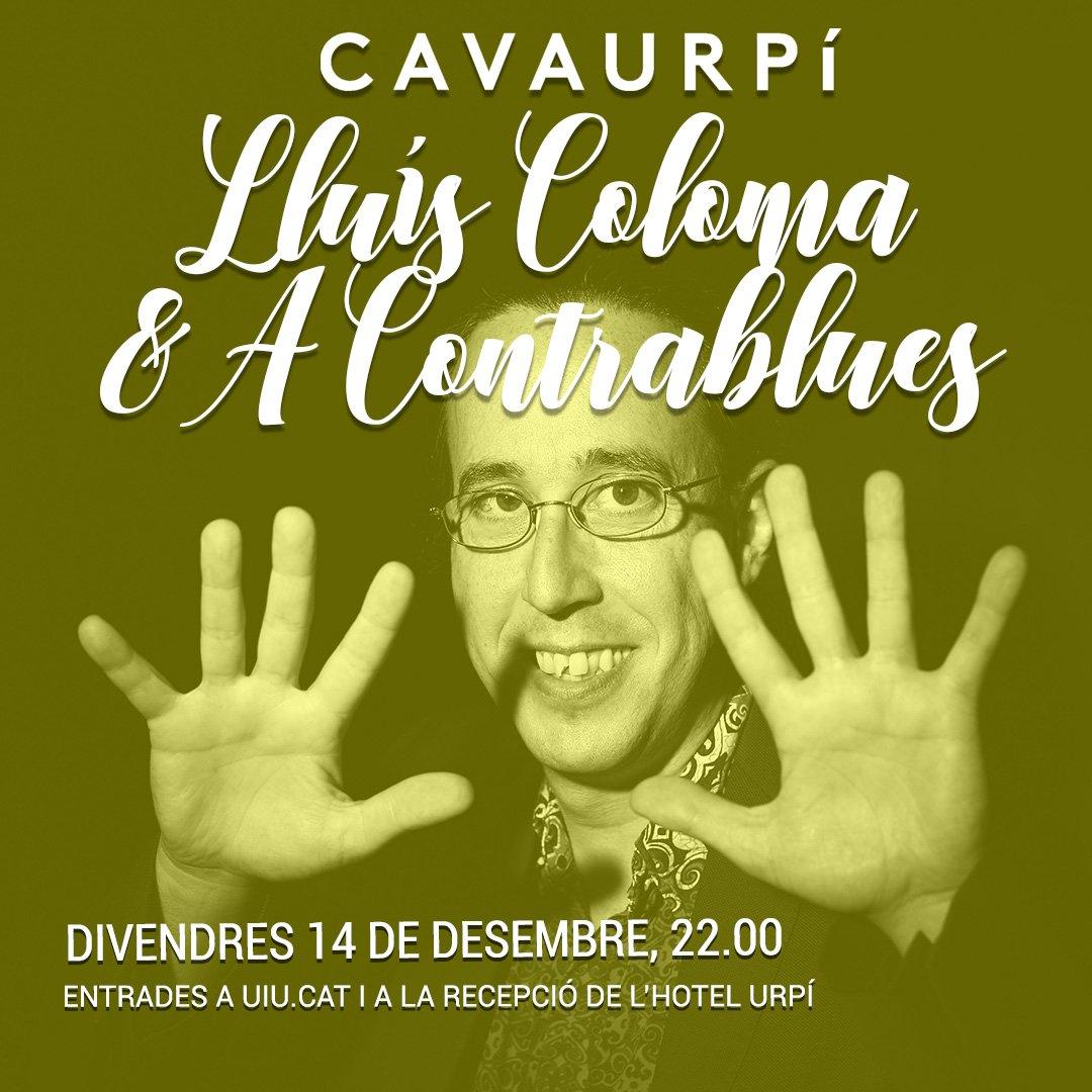 Aquest divendres omplim la @cavaurpi de #blues i de #rock amb el piano del @lluis_coloma i l'energia dels @acontrablues. Queden poques entrades així que correu a la recepció de l'@HotelUrpi o a http://ow.ly/qyEE30mVrRf