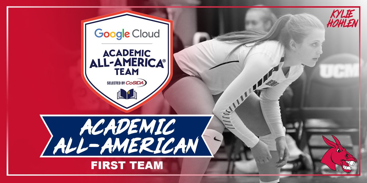 Big shout out to senior Kylie Hohlen on her selection as a First Team Academic All-American! #teamUCM