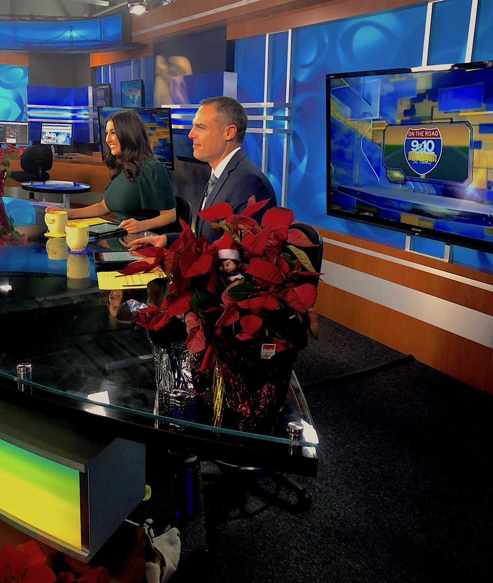 We Found A LITTLE Someone Trying To Get Behind The Scenes Of Michigan This Morning Earlier Today Mittens Was Planted In Studio Taking Some