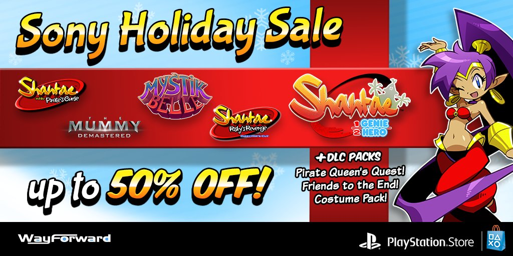 07adc71c94  Tis the season to be saving on WayForward PS4 games! Get up to 50% off on  the Shantae series (plus DLC)