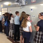 Image for the Tweet beginning: Gallery walk to solve systems