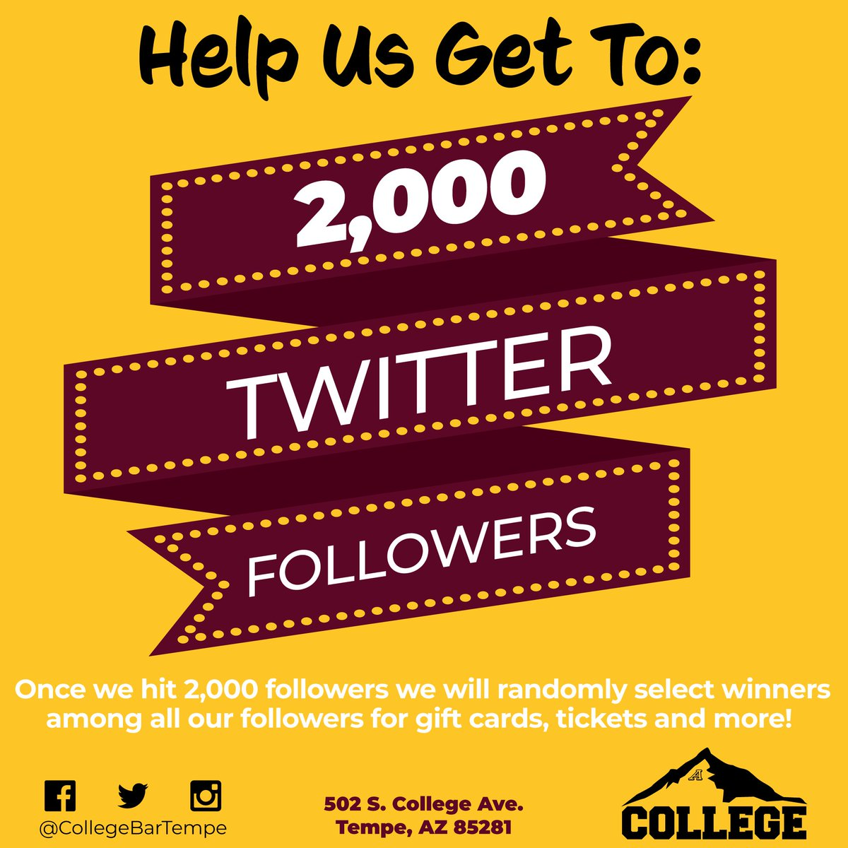 College Bar & Grill on Twitter: