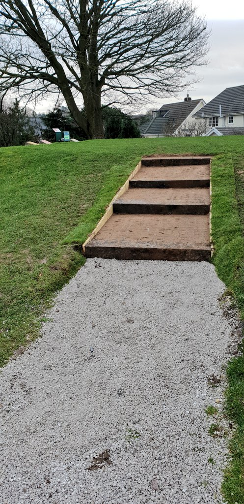 test Twitter Media - After some inclement weather last week the steps up to the 7th tee are now complete. https://t.co/DWYu3gCo6r