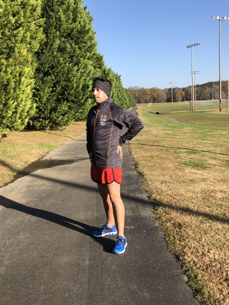 Always use my prior year Hot Chocolate coat for my cool down post run miles.  Can't wait to get a new one in February! Use BRHCAtlanta to get your armband too when you register! https://www.hotchocolate15k.com/ #HCATLBR #BibChat #HC15K #TrackTuesday