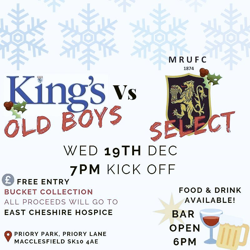 test Twitter Media - Next week we welcome back the @KingsMacRugby Old boys to take on a @MaccRUFC Select side in the annual Xmas Charity Match. Now in its 5th year both teams have all to play for after last years draw.  Get down to Priory Park and cheer on the boys! #welcomeback #oldboys #rugby 7pmKO https://t.co/ajH1Xytfmp