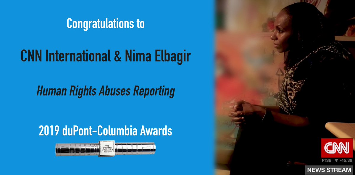 The winners of the 2019 @duPontAwards have been announced, and CNN is honored that @NimaCNN's human rights abuses reporting &  are@RBGmovie among the recipients. Congrats to all of the winners and thank you !  @columbiajournhttps://t.co/YQ9KIZsZtK#duPont2019