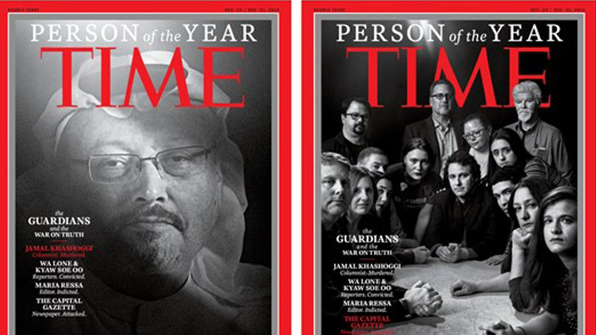 Time magazine's 2018 person of the year are the 'Guardians and War on Truth' https://t.co/CG1f4h480b