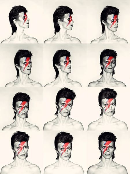 David Bowie: Aladdin Sane, 1973. Photo by Brian Duffy, makeup by Pierre LaRoche. <br>http://pic.twitter.com/d52ehqCTzQ