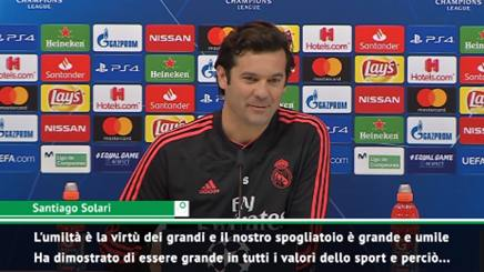 VIDEO #RealMadrid #Solari, risposta a #CR7 sulla presunta maggiore umiltà della #Juve #Ronaldo http://rosea.it/4861ad04ry