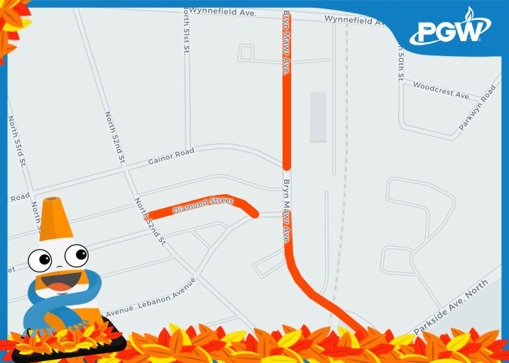 #Conewatch Step 3: 1900 & 2100 - 2200 blocks of Bryn Mawr, 5000 - 5100 blocks of Diamond, 19131: https://bit.ly/2ATAVR7   #StrawberryMansion @Mr4thDistrict