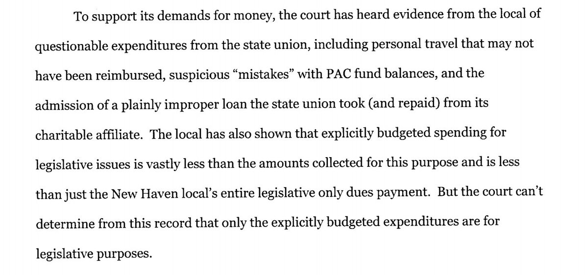 Vindicated! Court finds New Haven Firefighters are disaffiliated from UPFFA. Exposing possible unreimbursed personal travel, suspicious mistakes with PAC funding & an improper loan from a FF charity. @IAFFNewsDesk @firelaw @newsgirlct @JimmyAltman http://civilinquiry.jud.ct.gov/DocumentInquiry/DocumentInquiry.aspx?DocumentNo=15942564…
