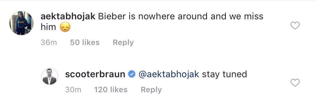"""""""Fique ligado"""", diz empresário Scooter Braun sobre comeback de Justin Bieber"""