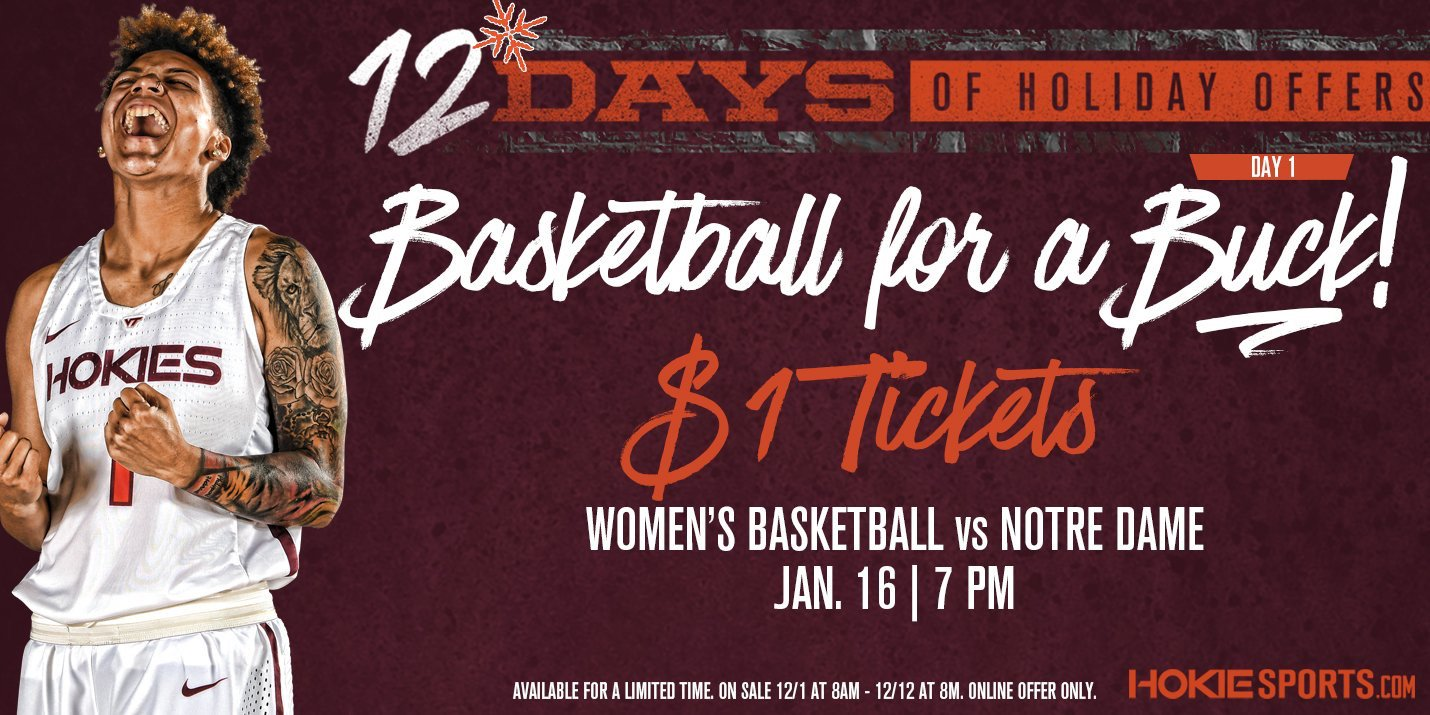 Virginia Tech Women S Basketball On Twitter Still Looking For Stocking Stuffers We Ve Got You Covered 1 To Our Showdown With Notre Dame In January Special