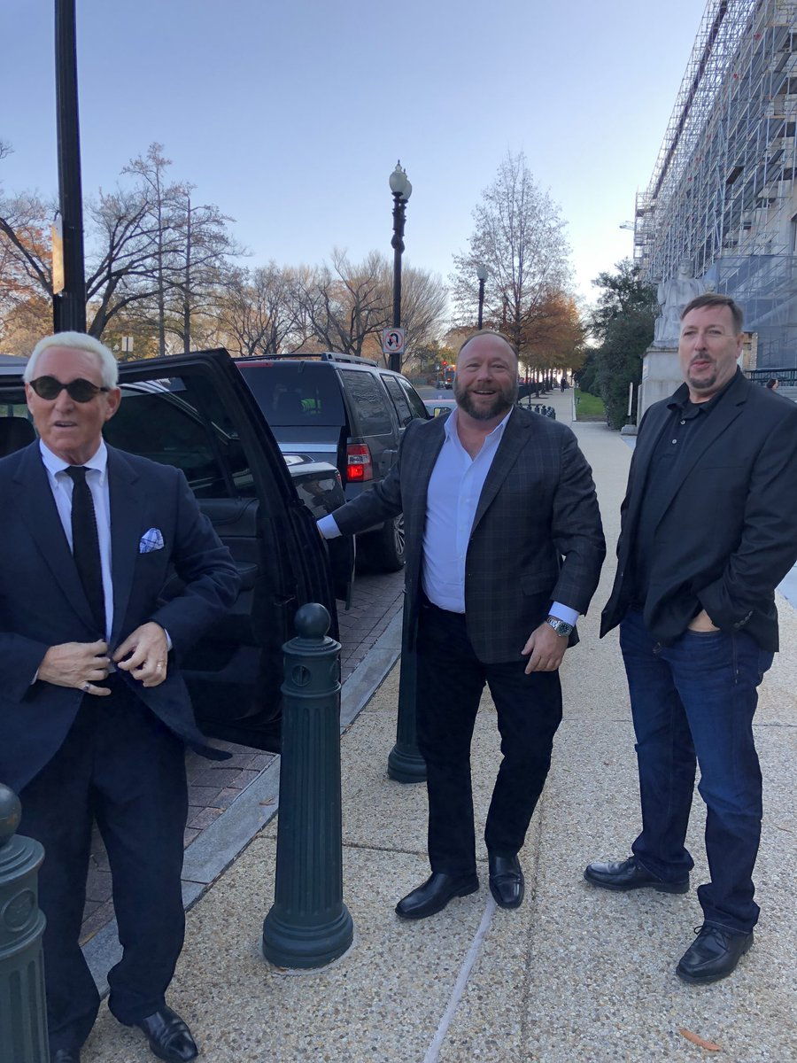 The Far Right Wing Republican Thugocracy. Roger Stone and good friend Alex Jones. Goons, grifters, daddy-issue gorillas, and moronic yahoos.  Friends of @realDonaldTrump @RealJamesWoods @IvankaTrump @VP @rupertmurdoch @foxnewspolitics @seanhannity