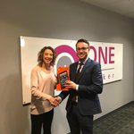 Congratulations to Claire at One Broker who recently won our Thistle Quiz. Here she is receiving her Amazon Fire from RDM Christian Burton